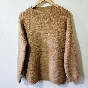 Vintage Oversized Camel Color Knit Sweater